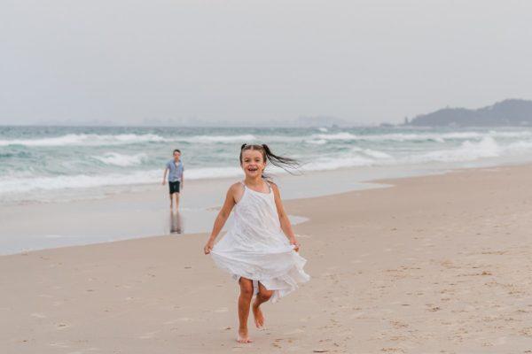 Familienfotos am Strand Queensland